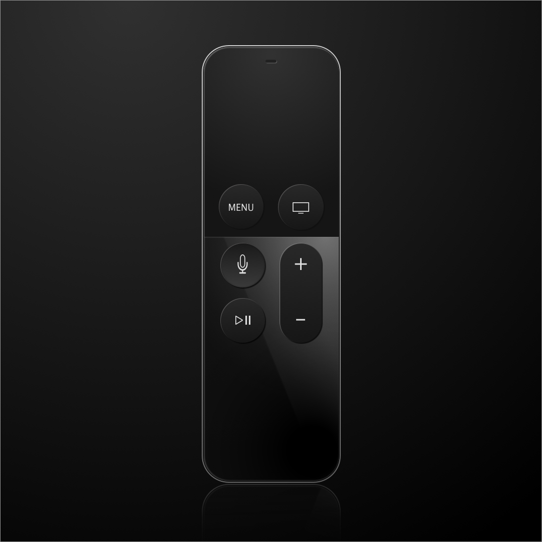 Apple Siri Remote (Sketch)